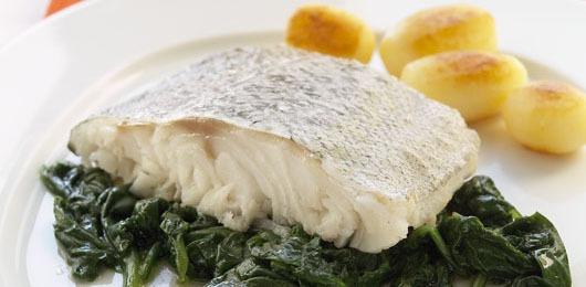 Bacalhau fresco com molho aromático de pêra