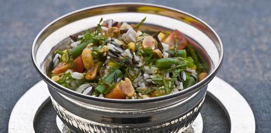 Salada exótica de arroz