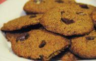 Cookies de nozes e chocolate