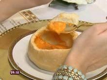 Creme de Abóbora com Pão