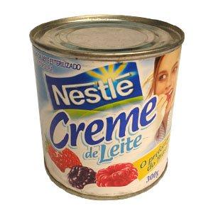 Chantilly com creme de leite em lata