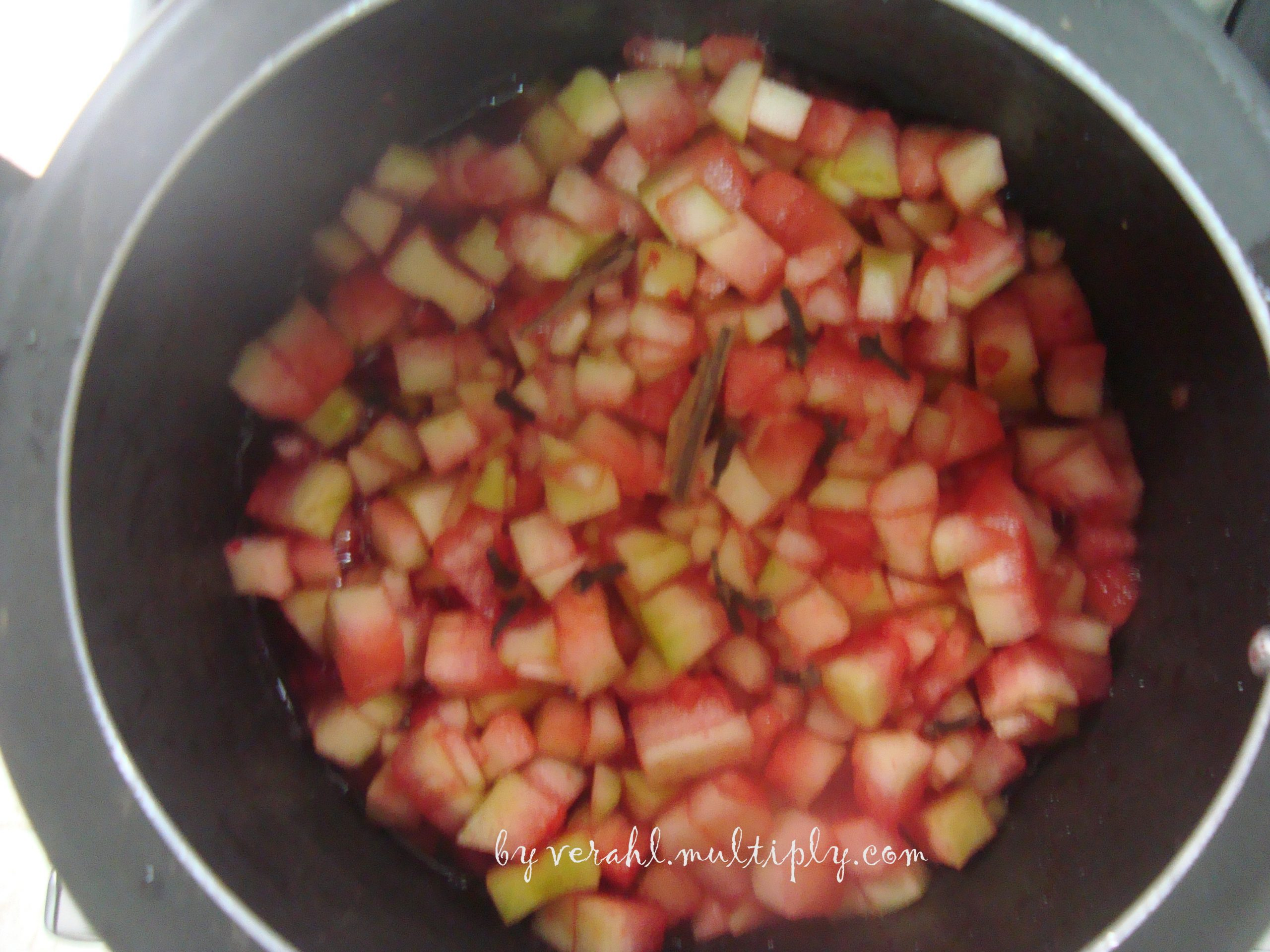 Doce da parte branca da melancia