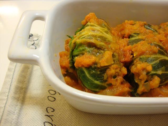 Salsichas com couve-lombarda (com e sem molho