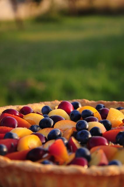 Tarte de Nectarinas
