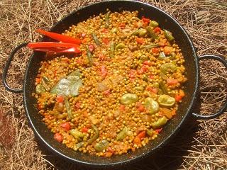 Paella de Trigo boulgur