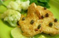 Peitos de frango com alcaparra
