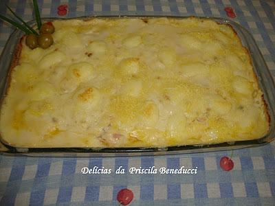 Frango real ao creme de queijos
