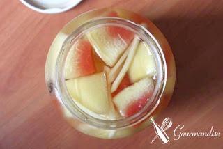 Picles de casca de melancia