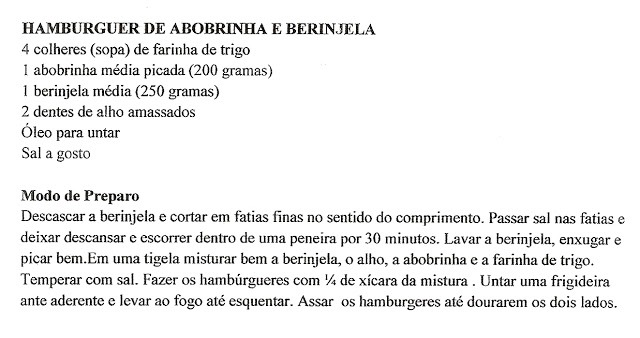 HAMBÚRGUER DE BERINJELA E ABOBRINHA