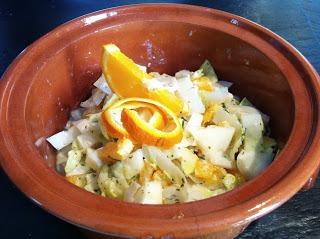 Salada de Endívias e Laranja