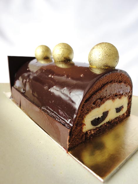 Maravilha de chocolate e mousse de cereja