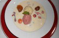Sopa gelada de amora e cereja