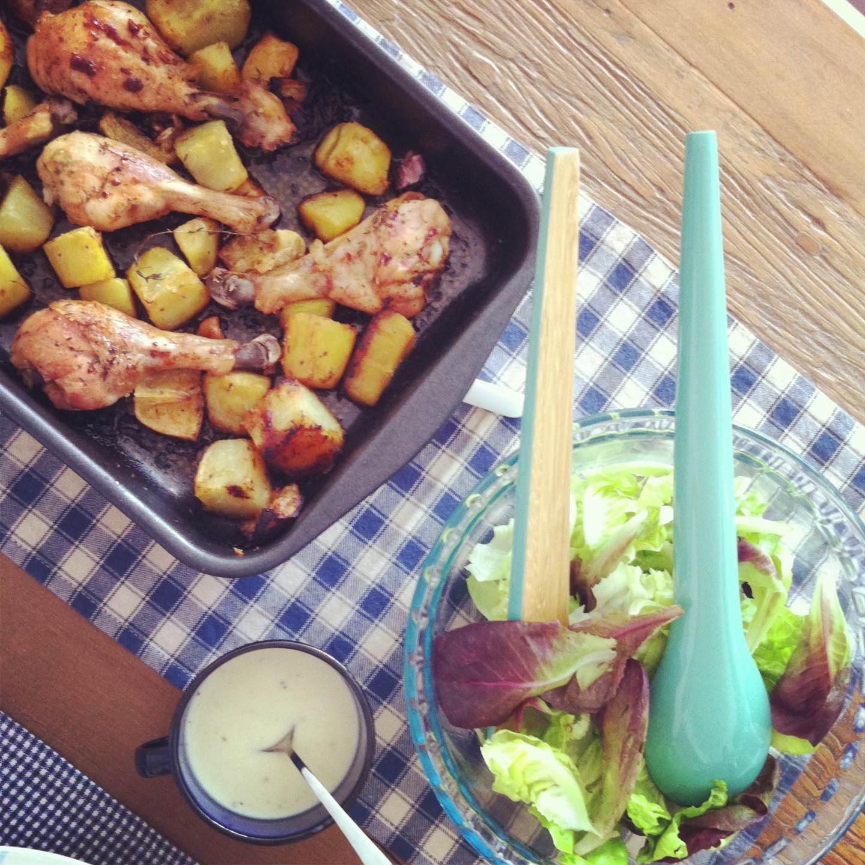 Coxas e peitos de frango à le cordon bleu