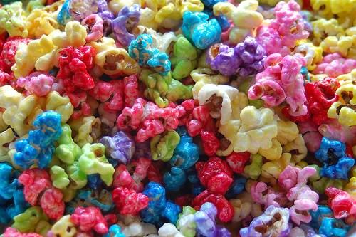 Pipocas Carameladas Coloridas
