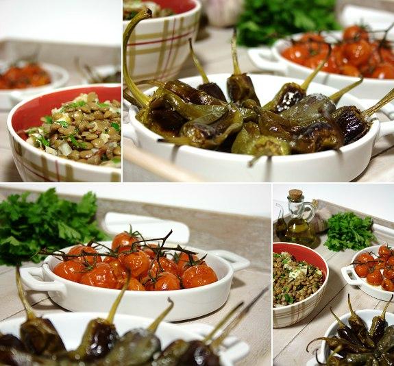 Salada de Bacalhau com Tomate e Pimentos