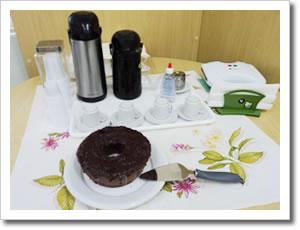 Pudim de chocolate e café