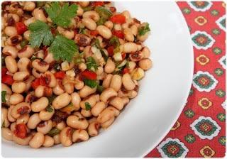 Bacalhau Assado na Grelha com Salada de Feijão Frade