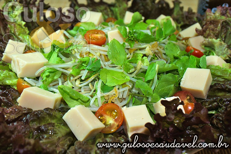 Tofu com Broto de Feijão