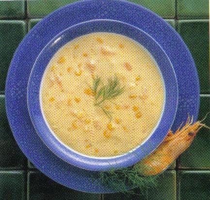 Sopa Cremosa de Gambas