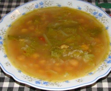Sopa de Grão com Arroz ou com Massa