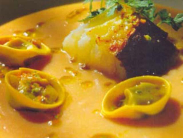 Sopa de Feijão Branco com bacalhau