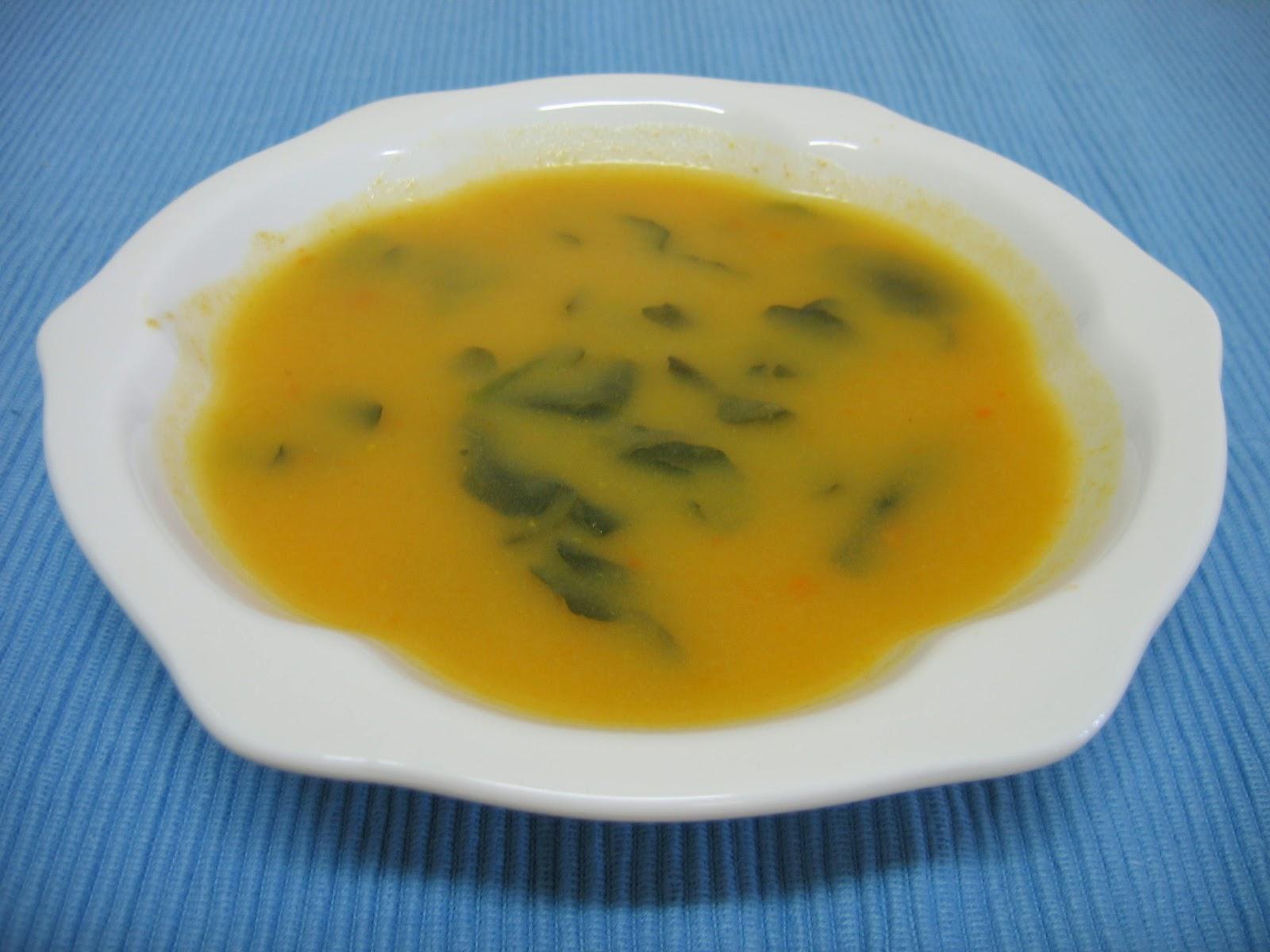 Sopa na abóbora