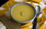 Sopa de milho com manteiga de camarão