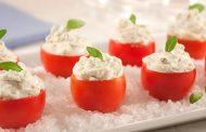 Tomatinhos-cereja recheados